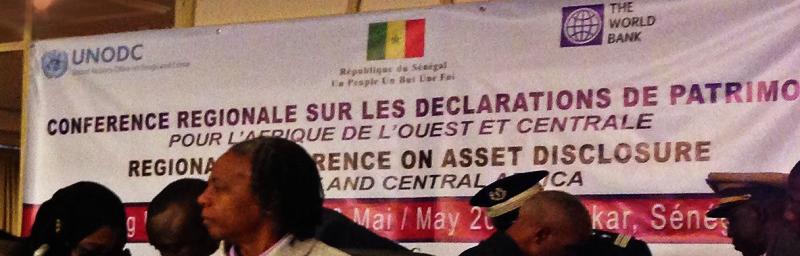 Conférence régionale sur les déclarations de patrimoine en Afrique de l'Ouest et Centrale