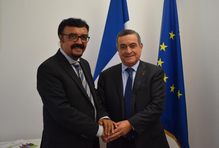 Accueil du vice-président de la Commission anti-corruption des Seychelles