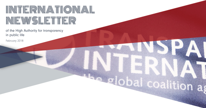 International Newsletter of HATVP – February 2018
