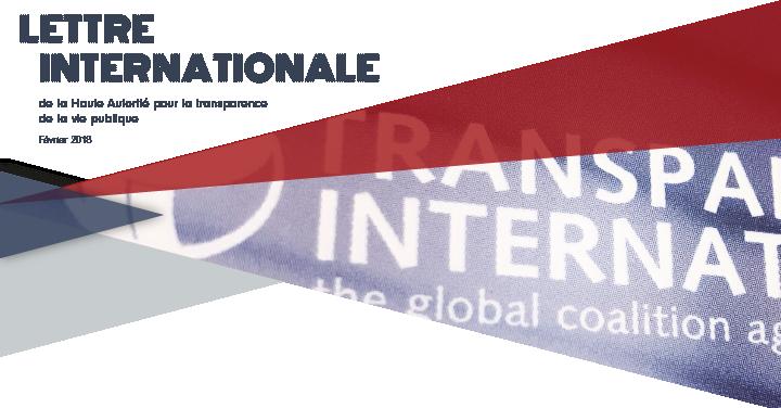 La lettre internationale de la Haute Autorité – Février 2018