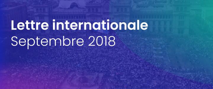 La lettre internationale de la Haute Autorité – Septembre 2018