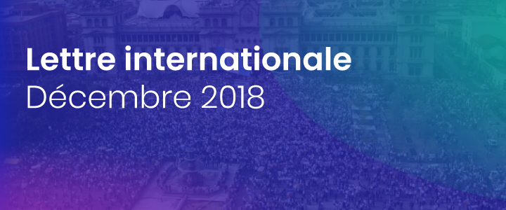 La lettre internationale de la Haute Autorité – Décembre 2018