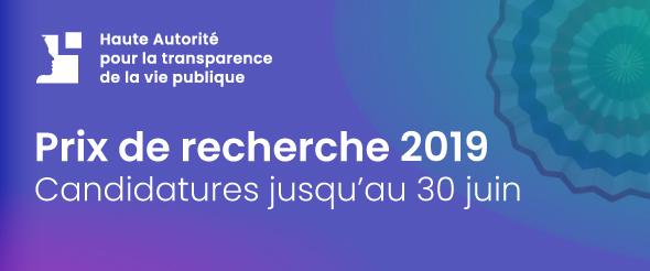 Prix de recherche 2019