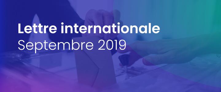 La lettre internationale de la Haute Autorité – Septembre 2019