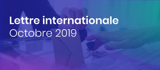 La lettre internationale de la Haute Autorité – Octobre 2019