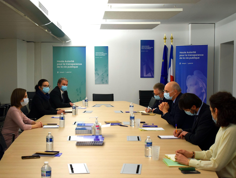 Le président de la Haute Autorité rencontre la présidente de la République de Moldavie