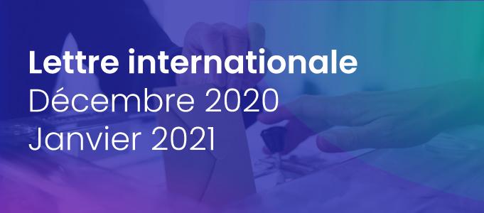 La lettre internationale de la Haute Autorité – Décembre 2020-Janvier 2021